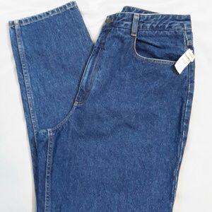 TALBOTS Misses 16 High Rise Tapered Leg Denim Jean